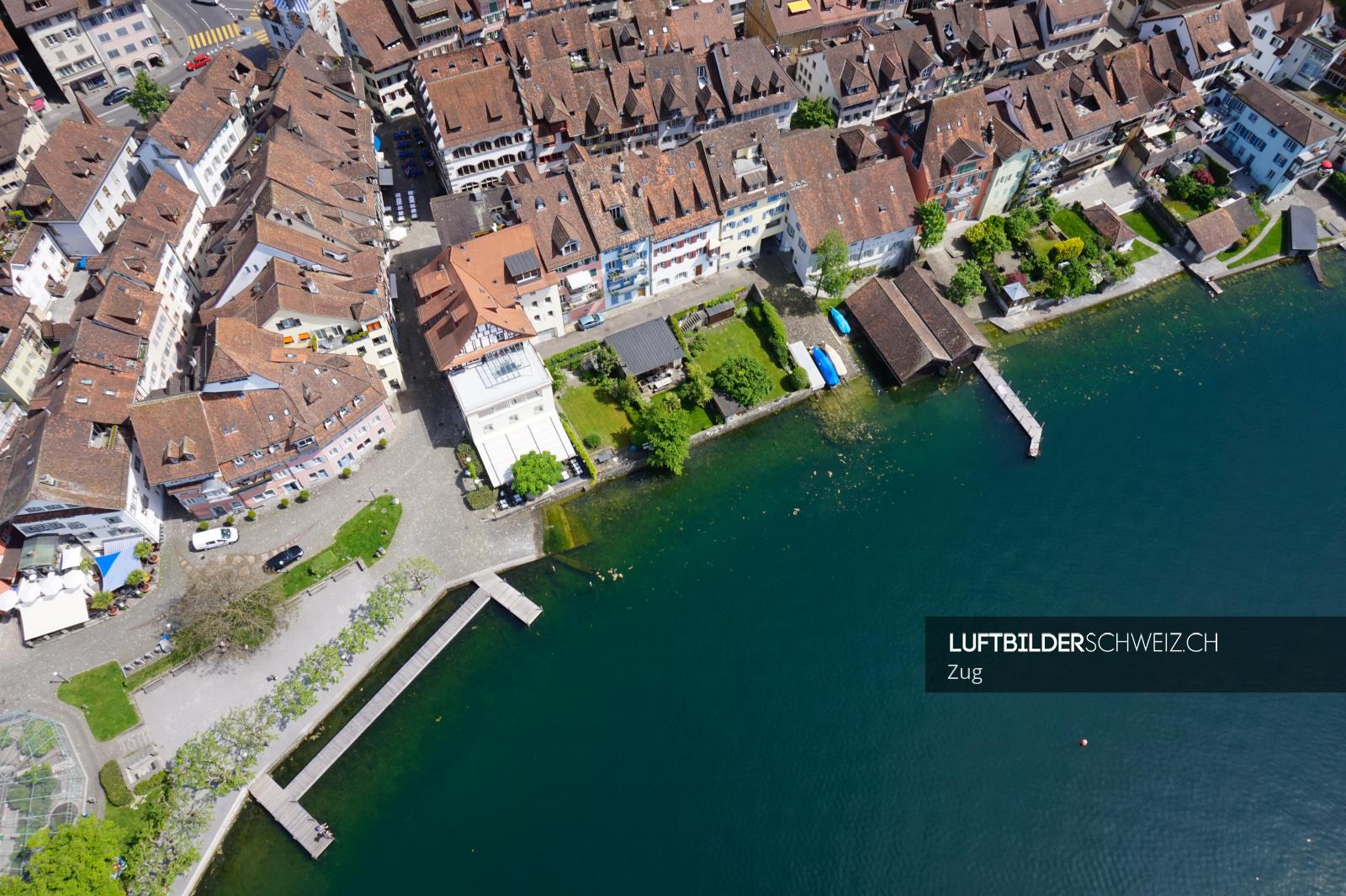 Luftbild zug seestrasse fischmarkt luftbilder schweiz for Fischmarkt zug